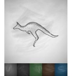 kangaroo icon vector image