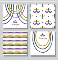 mardi gras carnival decorative template and vector image