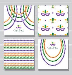 mardi gras carnival decorative template vector image