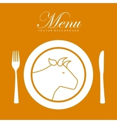 menu restaurant design vector image