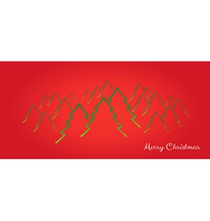 merry christmas card with trees vector image