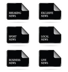 News file icon vector