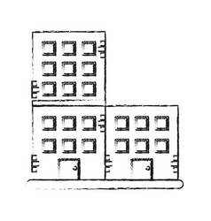 Old brick building icon image vector