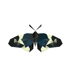 Origami butterfly isolated on white background vector