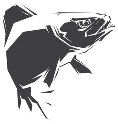 Piranha black vector