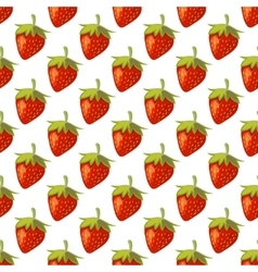 Red strawberries seamless pattern vector