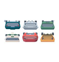 retro typewriting type keyboard letter old vector image