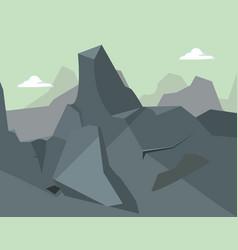 Rocky mountains sky natural landscape vector
