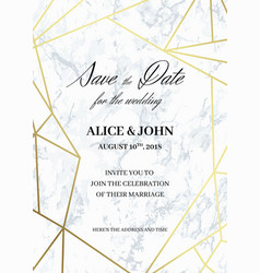 Save the date card template of geometric design vector