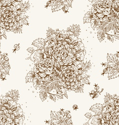Seamless vintage decorative ornament vector image