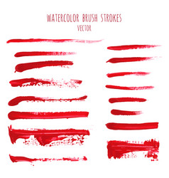 set of bloody red watercolor hand painted textures vector image