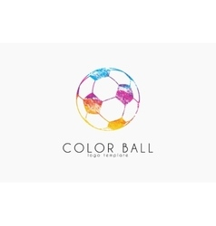 Soccer mall logo colorful soccer ball crative vector