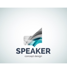 Speaker logo business branding icon vector