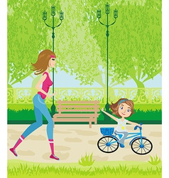 sport in the park vector image