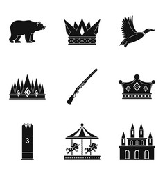 Stableman icons set simple style vector