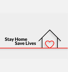 Stay home save lives minimal poster design vector