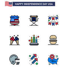 Stock icon pack american 9 line signs vector