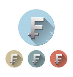 swiss franc currency symbol vector image