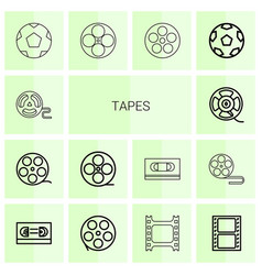 tapes icons vector image