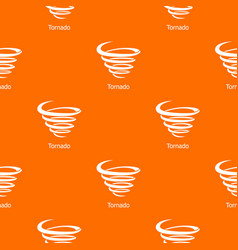 Tornado pattern orange vector