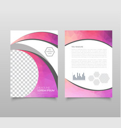 trendy geometric triangular and other design vector image