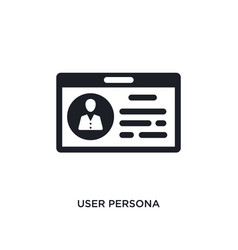 User persona isolated icon simple element from vector