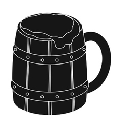Viking ale icon in black style isolated on white vector image