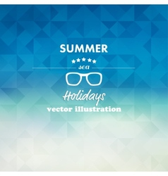 Vintage summer sea abstract background vector