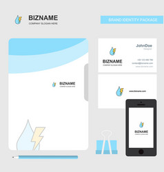 Water drop with current business logo file cover vector