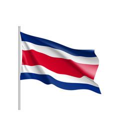 Waving flag costa rica vector