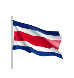 Waving flag of costa rica vector