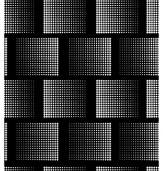 White on black seamlesss pattern vector image