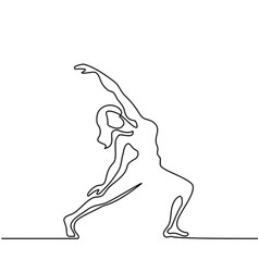 woman doing exercise in yoga pose vector image