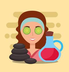 woman spa wellness vector image