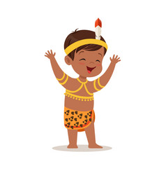 boy wearing national costume of africa colorful vector image