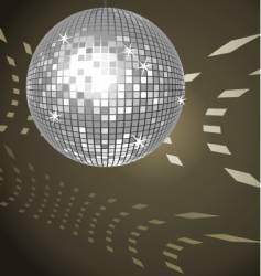 disco ball vector image vector image