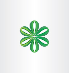 green leaves flower decoration vector image