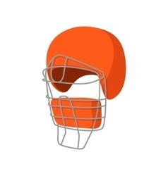 Baseball catcher helmet cartoon icon vector image vector image