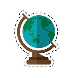 cartoon globe map school design vector image
