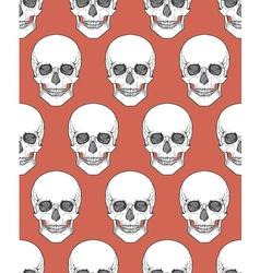 Human skull tribal style seamless pattern hand vector image