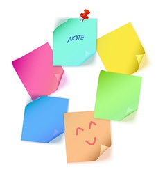 Various color paper note vector image