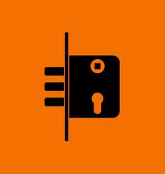 door lock icon vector image