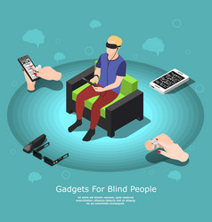 gadgets for blind composition vector image vector image