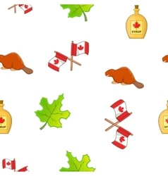 Holiday in Canada pattern cartoon style vector image