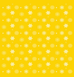 pattern with snowflakes yellow background - vector image