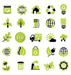 set eco signs vector image