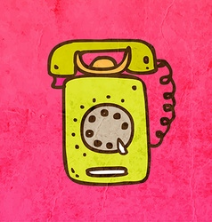 Telephone Cartoon vector image