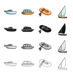 transport water submarine and other web icon in vector image