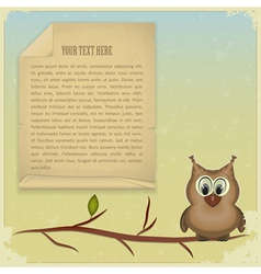 wise owl background vector image vector image