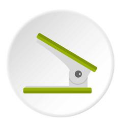 yellow ruler icon circle vector image